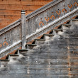 Old wooden stairs — Stock Photo
