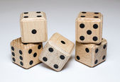 Pile of wooden dice — Stock Photo