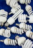 Tas de lampes d'économie d'énergie — Photo
