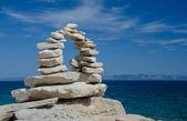 Stenen brug aan de kust — Stockfoto