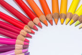 Circle with Colorful Crayons — Stockfoto