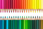 Two Opposite Rows with Colorful Crayons — Stock Photo
