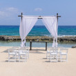 Weeding set up on the beach — Stock Photo