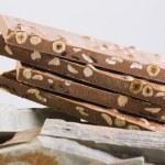Milk chocolate nougat. Turron. — Stock Photo #36424443