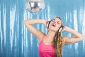 Dancing in the disco — Stock Photo