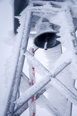 Bell Tower in the snow — Stock Photo