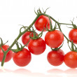 Stock Photo: Ripe tomatoes on white background