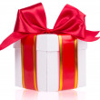 Gift box with bow on white background — Stock Photo #39018561
