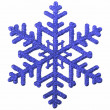 Blue snowflake isolated on white background — Stock Photo