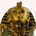 Modern copy of ancient egyptian Tutankhamen's mask isolated — Stock Photo