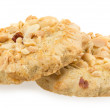 Stock Photo: Biscuits sprinkled with nuts