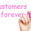Customers forever pink marker — Stock Photo #39019647