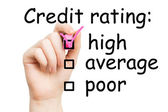 Credit rating, pink marker — Stock Photo