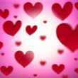 Stock Photo: Background of hearts