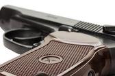 Makarov gun on the white background — Stock Photo
