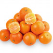 Juicy tangerines isolated on the white background — Stock Photo #50223459