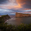Gaspe Perce Rock Quebec Canada — Stock Photo