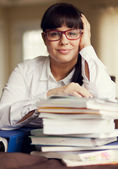 Adult Woman Working — Stock Photo