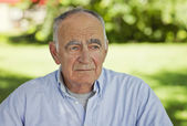 Portrait Of A Senior Man Lost In Thought — Stock Photo