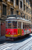 Old tram. Lisbon. — Stockfoto