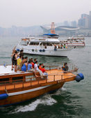 Hong Kong. In the bay of Victoria. — Foto de Stock