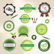 food badges — Stock Vector