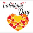 Valentine's day postcard — Stockvectorbeeld