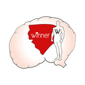Brain winner - inner winner vector — Stock Vector