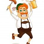 Beer party man — Stock Vector #35124199