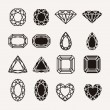 Diamond icons — Stock Vector