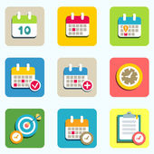 Calendar and event icons — Stock Vector