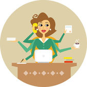 Secretaria — Vector de stock