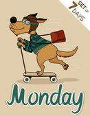 Monday — Stock Vector