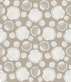 Seashell pattern — Stock Vector