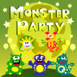Monster party poster — Stock Vector