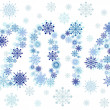 2014 snow stars — Stock Vector