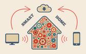 Smart home — Vector de stock