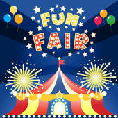 Fun fair poster — Stock Vector
