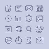Business time icons — Stock Vector
