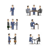 Business negotiations — Stock Vector