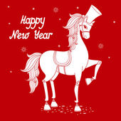 Year of horse 2 — Stock Vector