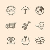 Delivery icons — Stock Vector