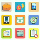 Finance flat icons — Stock Vector