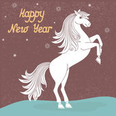 Year of horse — Stock Vector