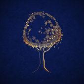 Golden tree — Stock vektor