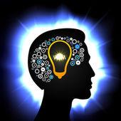 Idea in head — Stock Vector