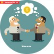 Business handshake big deal — Stock Vector