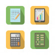 Set of financial business tools — Imagen vectorial