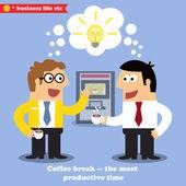 Coffee break collaboration — Stock Vector