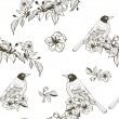 Seamless romantic silhouette pattern — Vettoriali Stock
